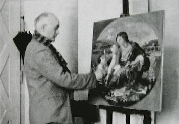 Я. Красневич за роботою, поч. 1970-х рр.